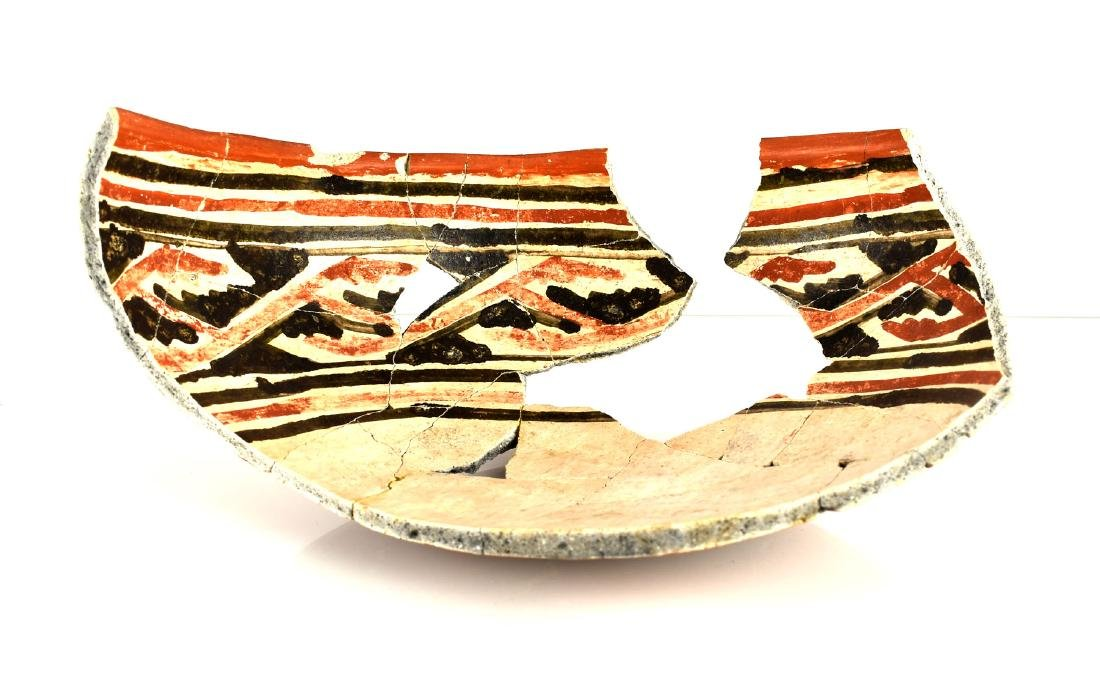 "9 1/2"" Anasazi Kwakina Polychrome Partial Bowl"