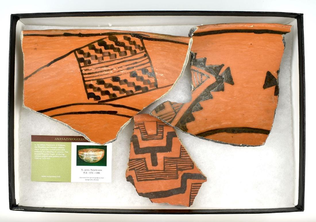 Three Anasazi Redware Potsherds