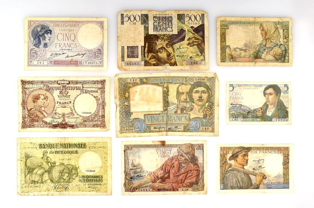 World War 2 Era French Paper Currency