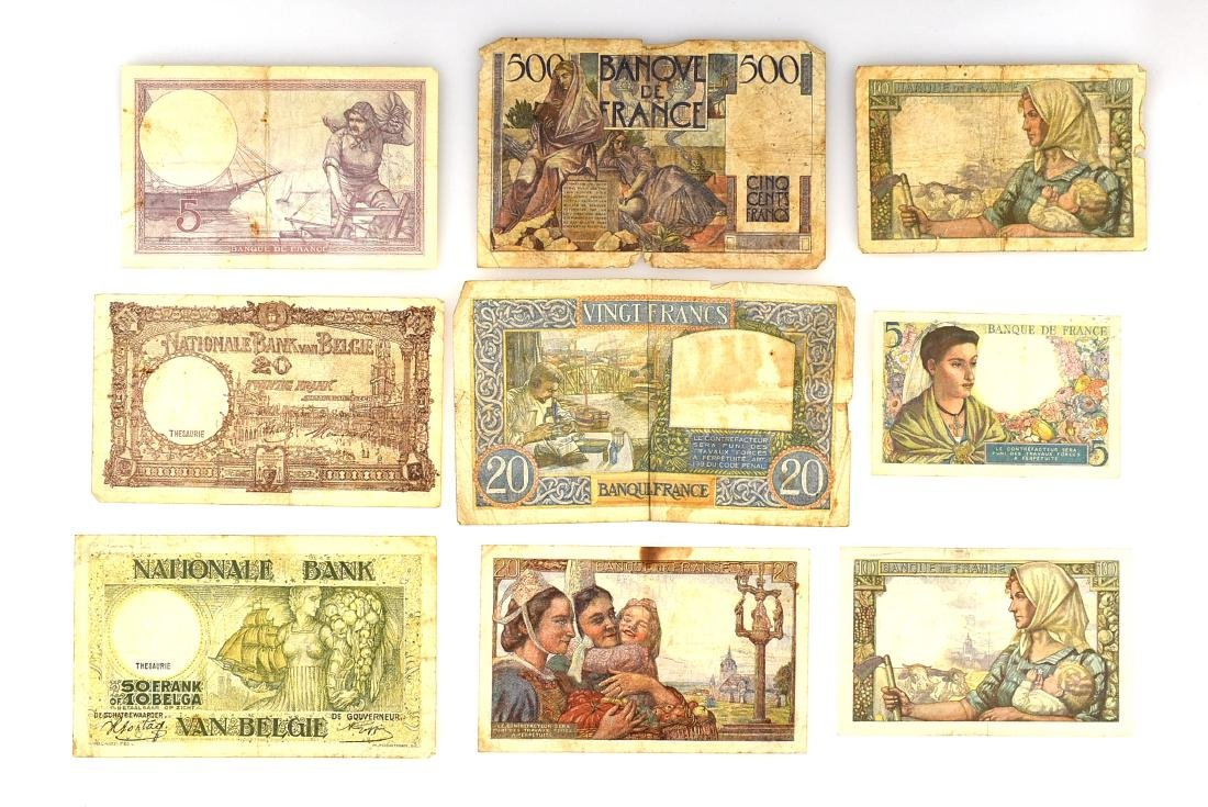 World War 2 Era French Paper Currency - 2