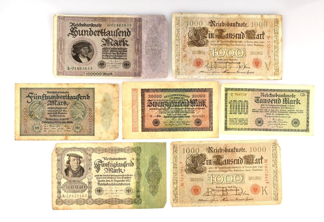 German Pre-World War 2 Currency