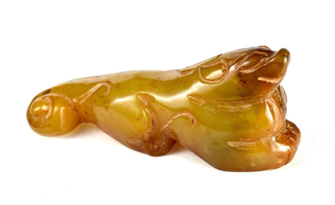 """3 1/8"""" Oriental Jade Jaguar Carving - 2"""