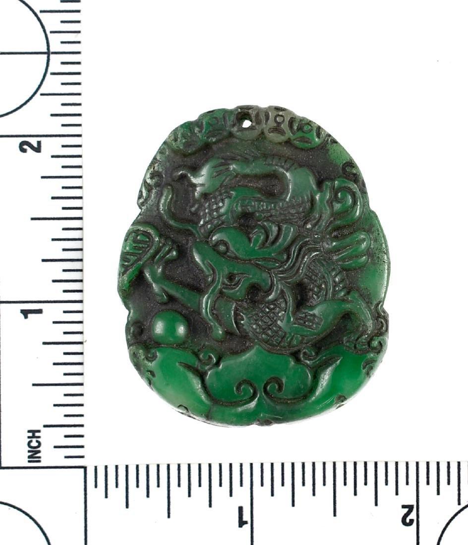 """1 7/8"""" Oriental Jade Carving"""