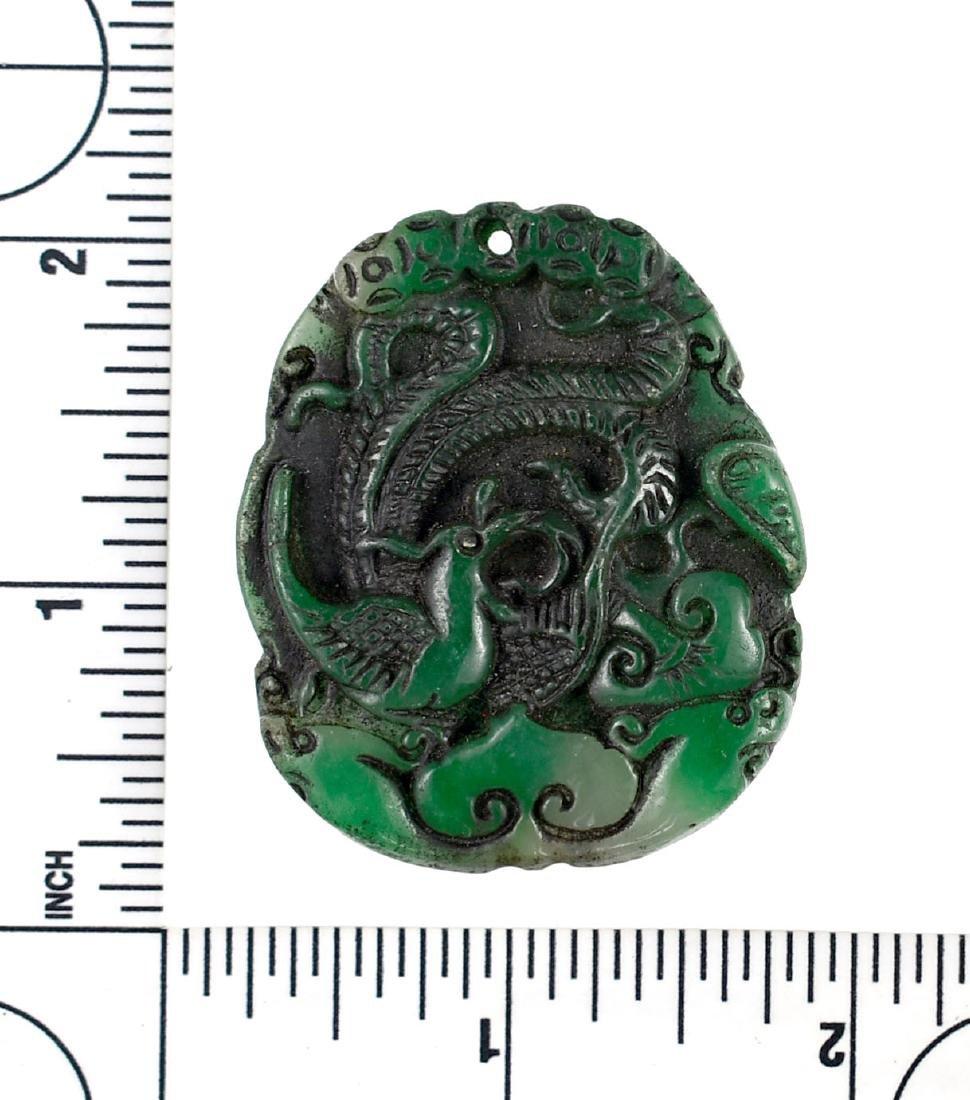"""1 7/8"""" Oriental Jade Carving - 2"""