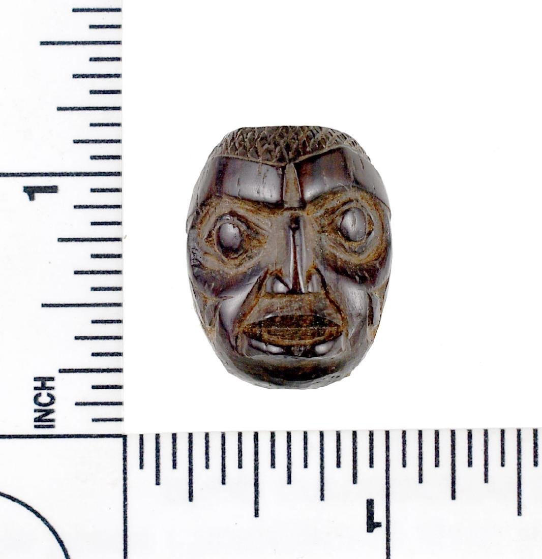 "Small 1"" Wooden Haida Style Carved Maskette"