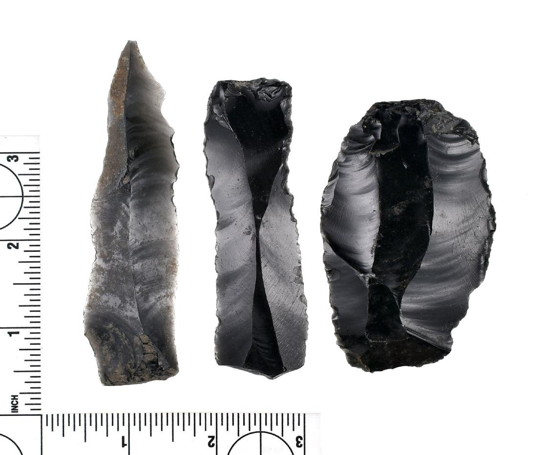 Cache of Early Obsidian Tools