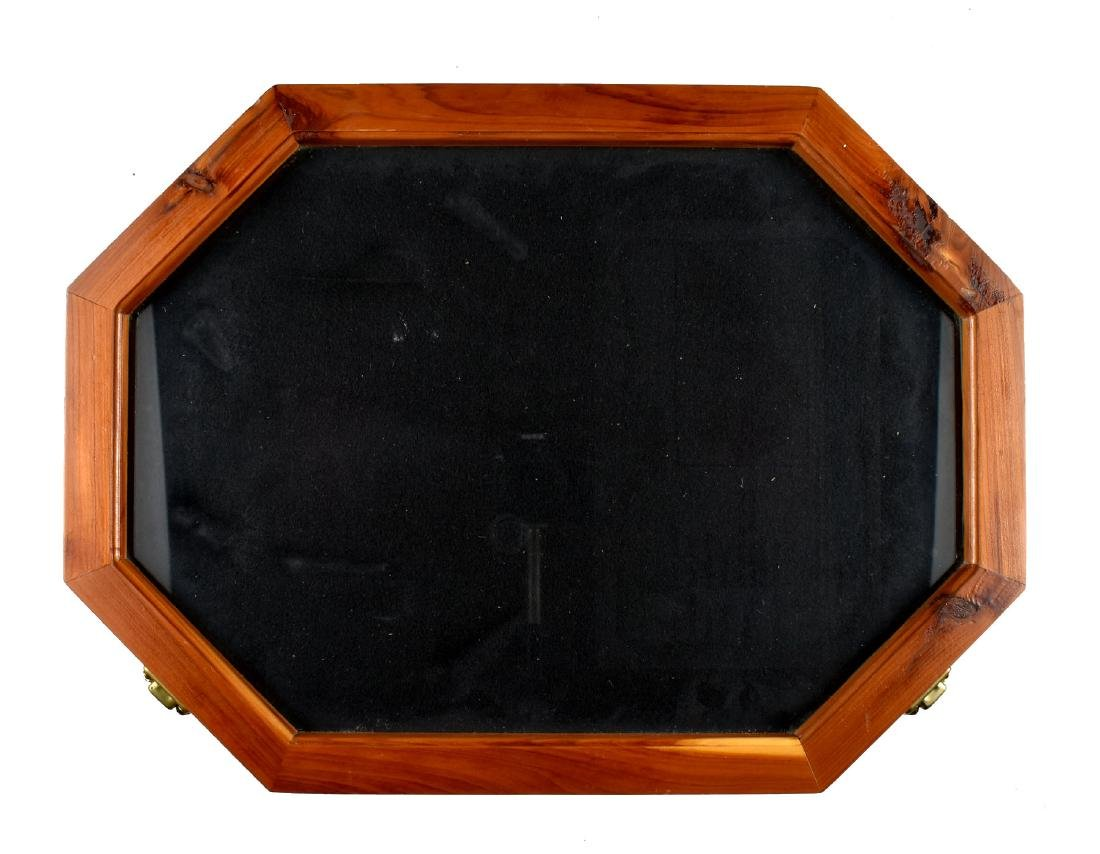 Custom 18x21 Hexagonal Display Case