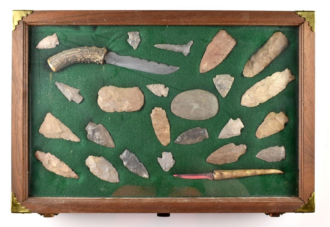 12x18 Display of Knives and Flint Artifacts