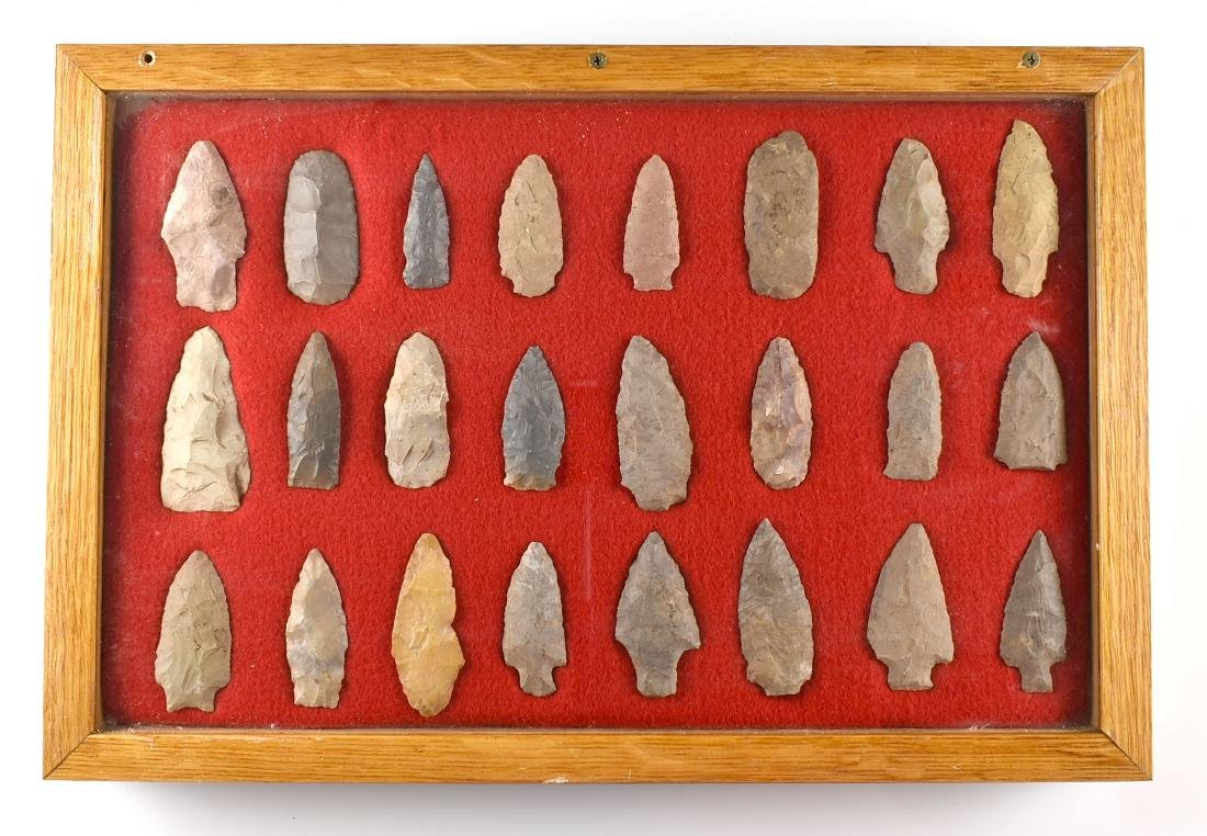 12x18 Display of 24 TN Arrowheads