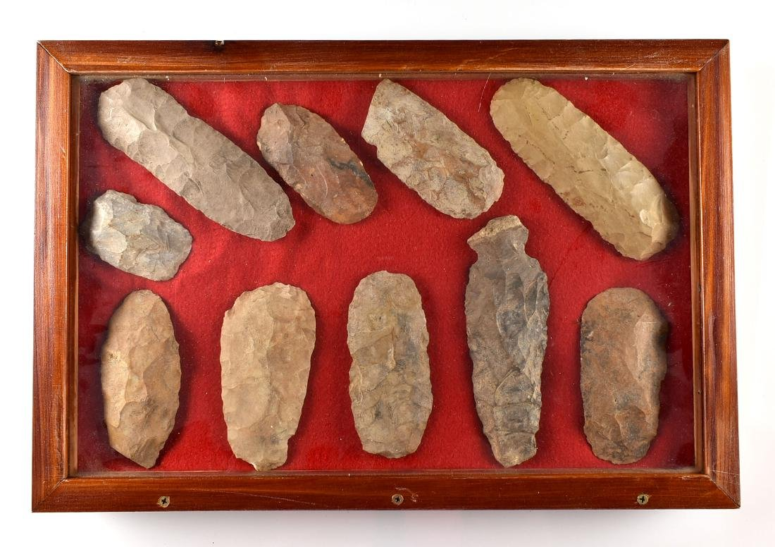 12x18 Display of TN Flint Celts