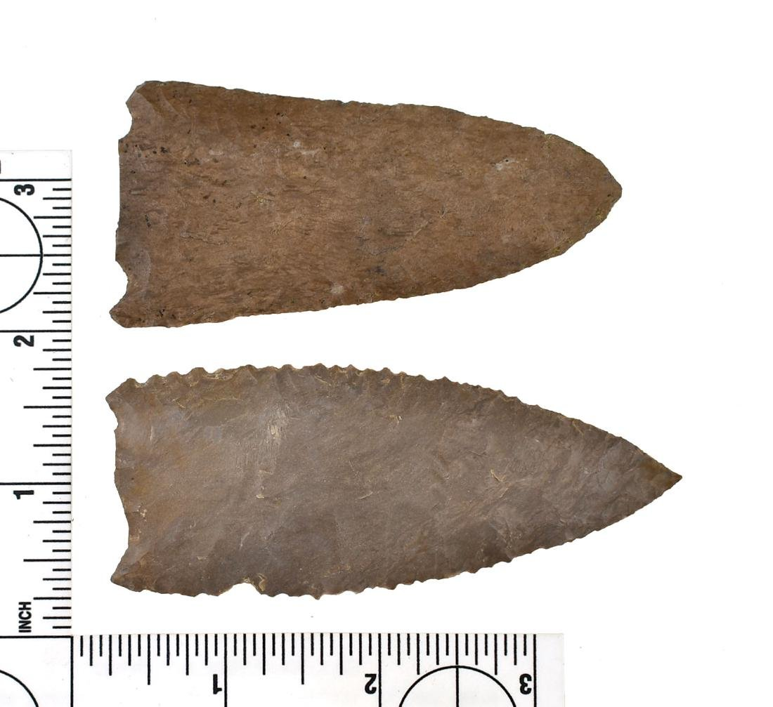 Pair of Snapped Base Archaic Points