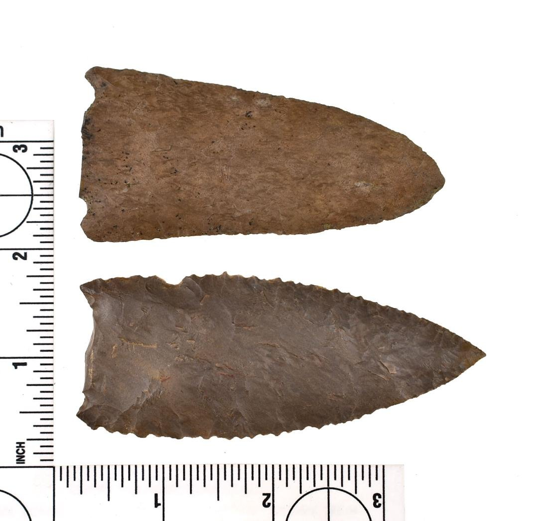 Pair of Snapped Base Archaic Points - 2