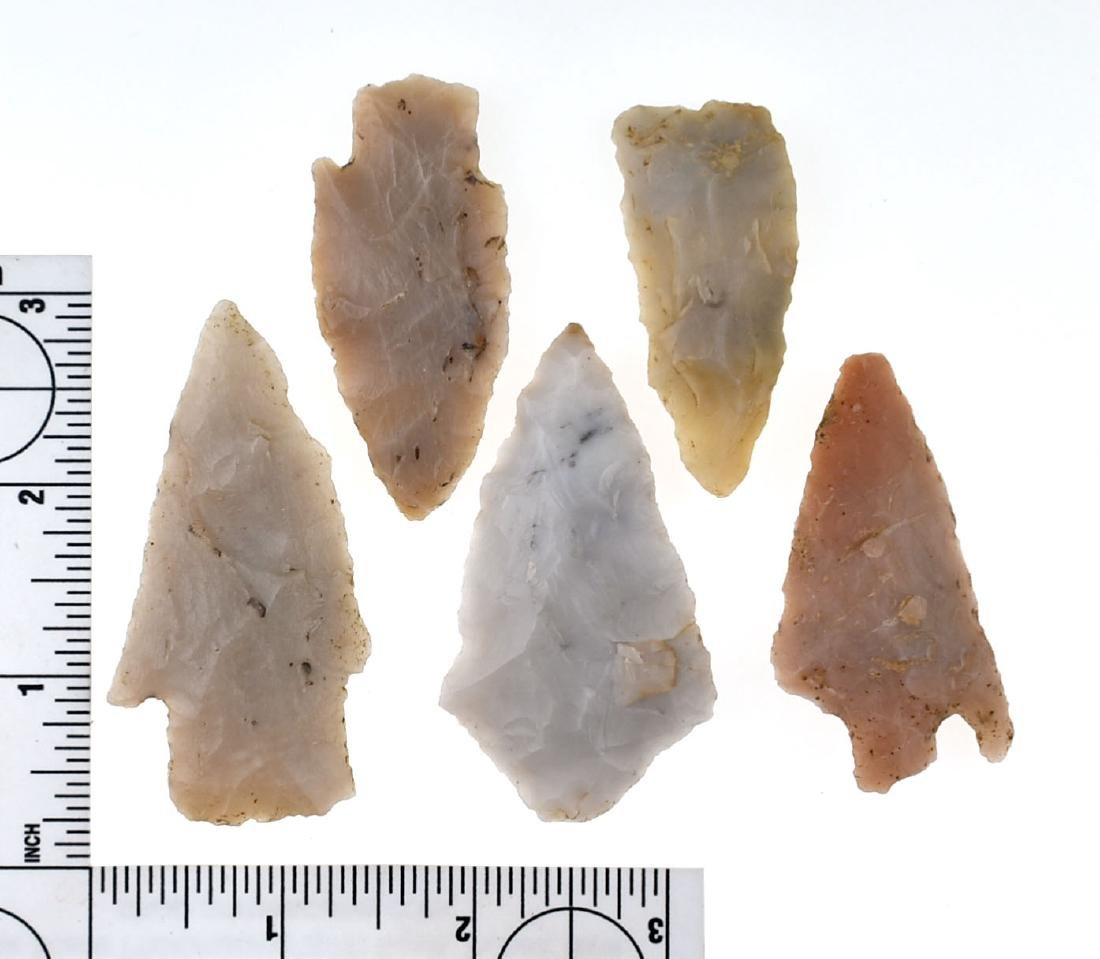 5 Novaculite Points