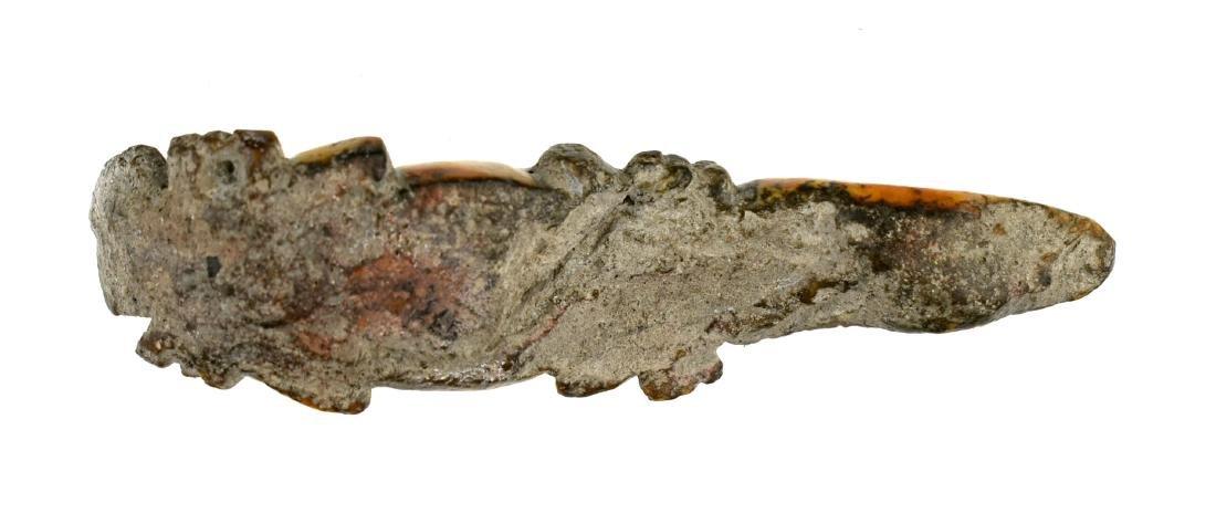 """4 1/8"""" Calusa Shell Lizard Effigy - 2"""