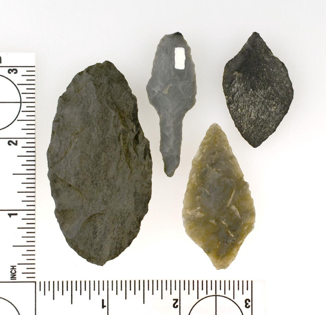 4 Nice Alaskan Flint Points - 2