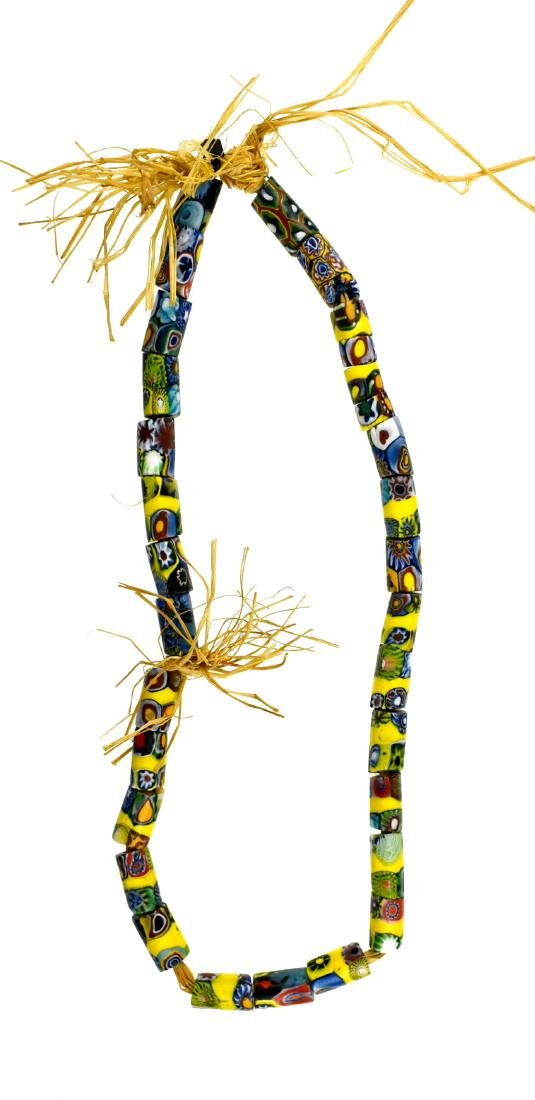 "17"" Millefiori Trade Bead Necklace"