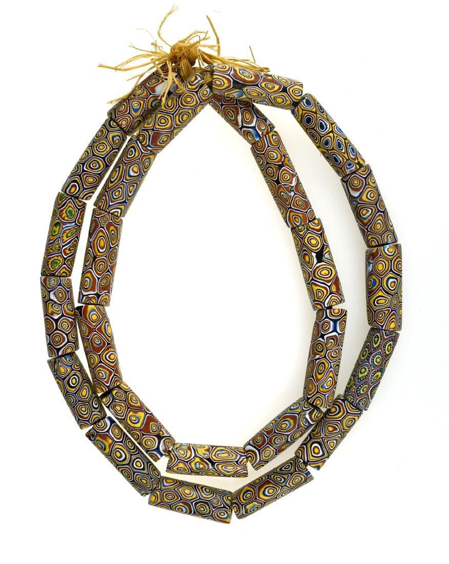 "30"" Millefiori Fancy Trade Bead Necklace"