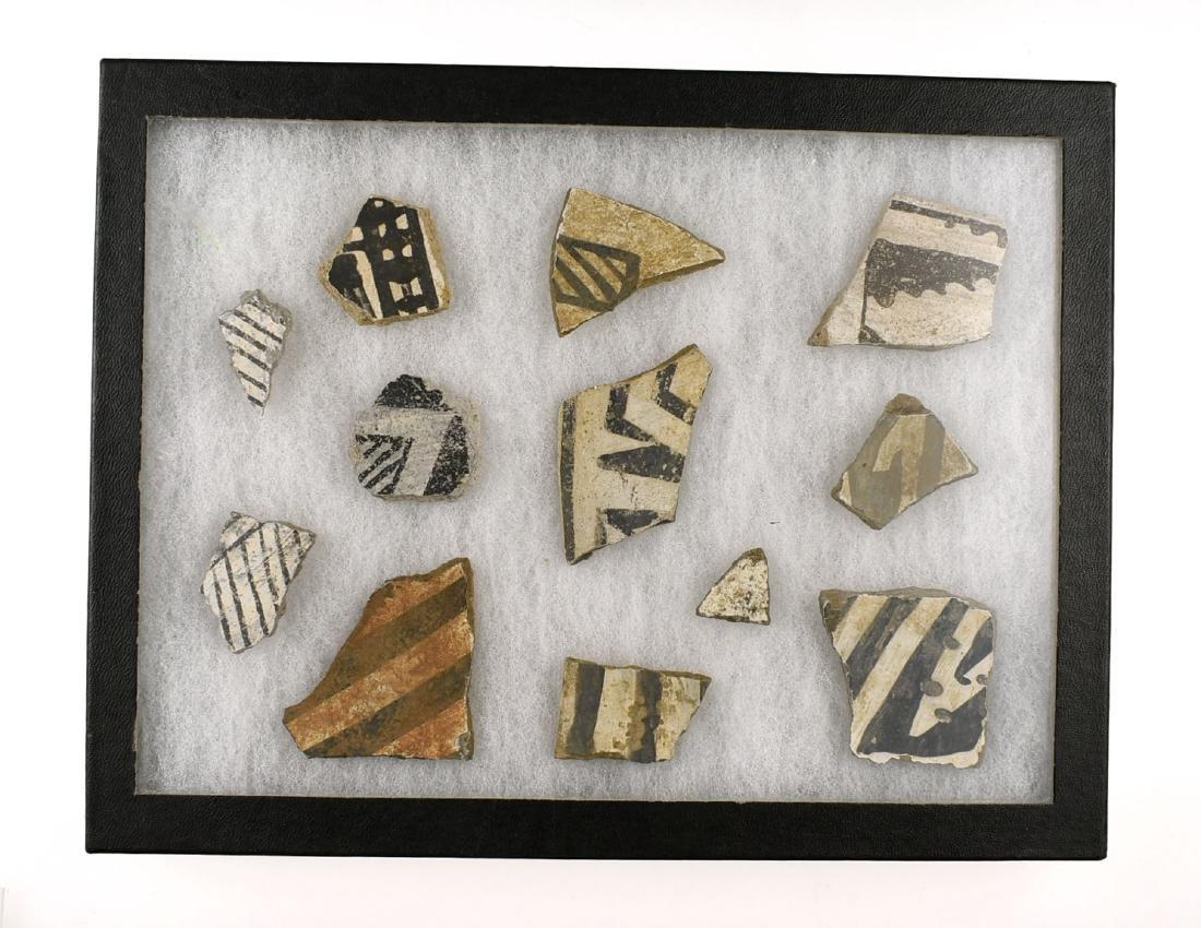 Anasazi Pottery Sherds Display