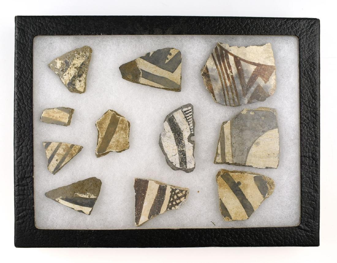 Anasazi Pottery Sherd Display
