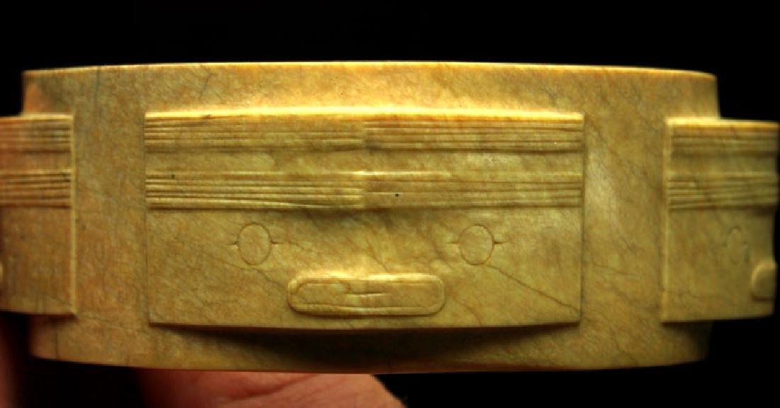 Museum Quality Chinese Liangzhu Culture Jade Cong - 7