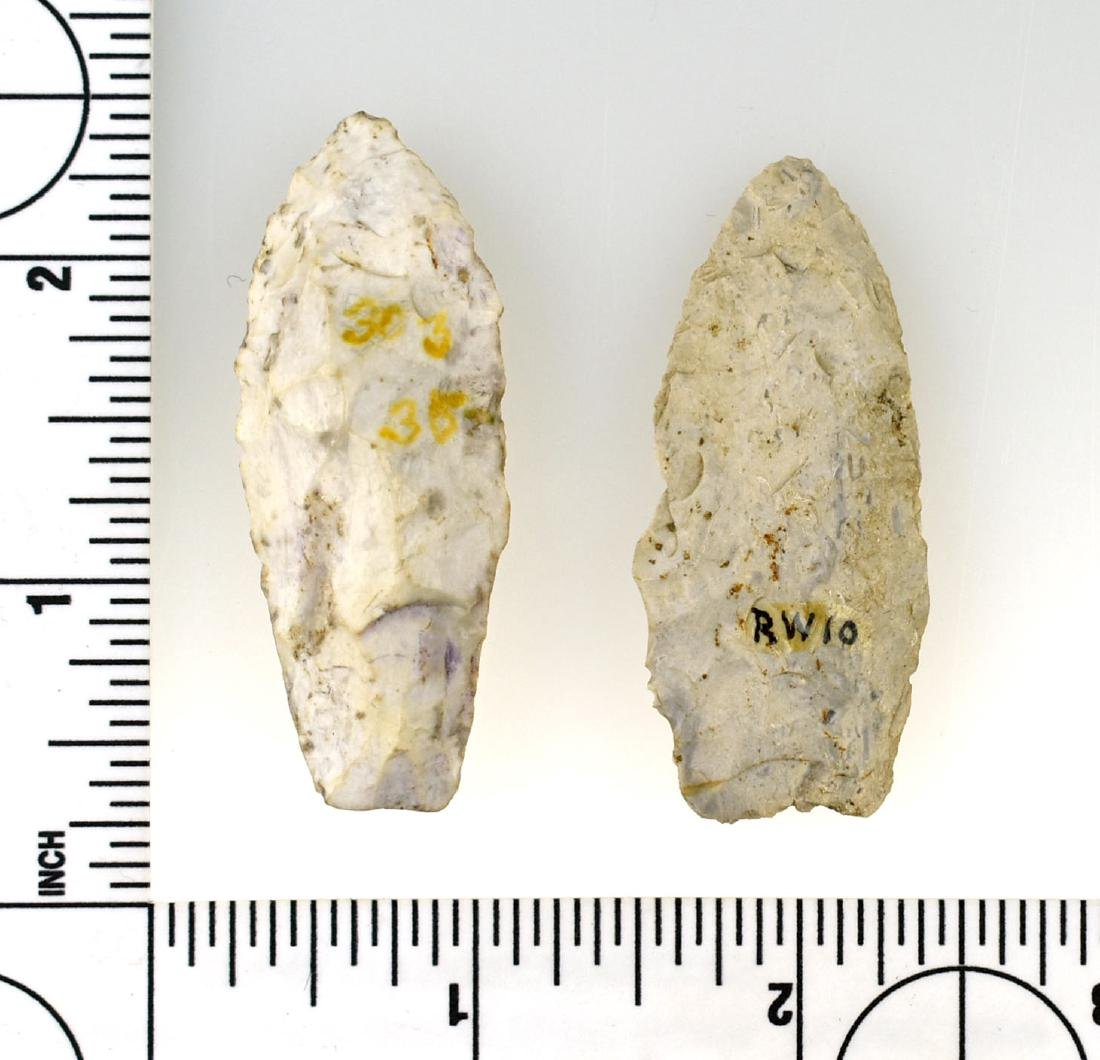 Pair of Wisconsin Lance Points