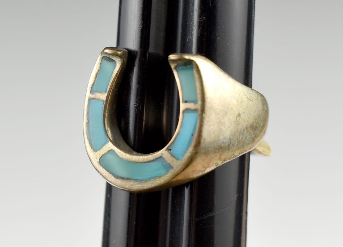 Southwestern Silver Horseshoe Ring