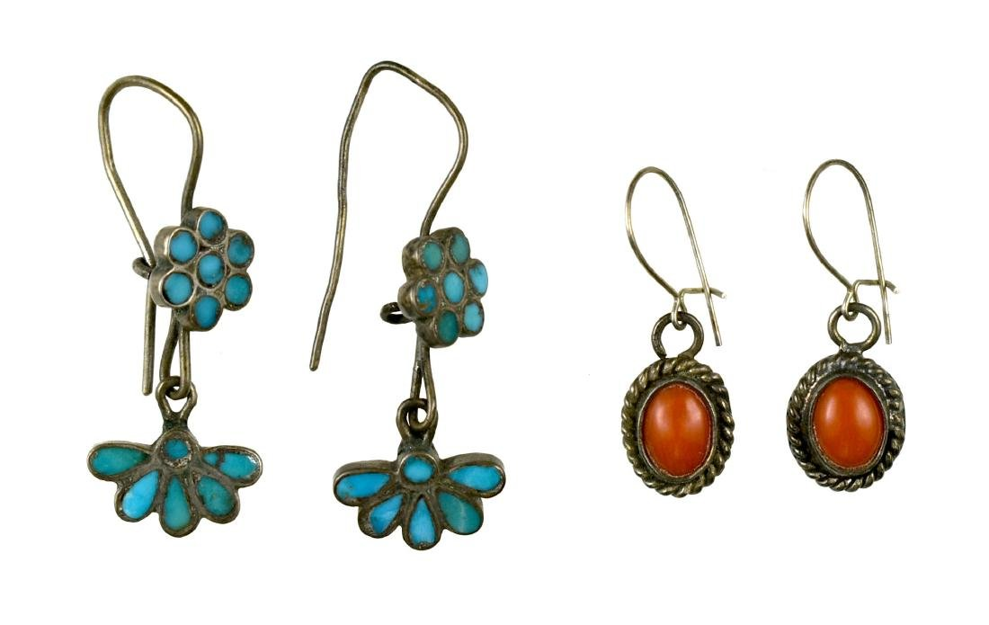 2 Pairs of Southwestern Earrings