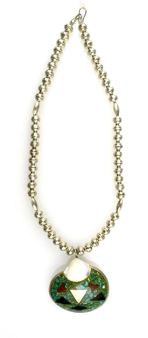 Southwestern Silver & Shell Necklace