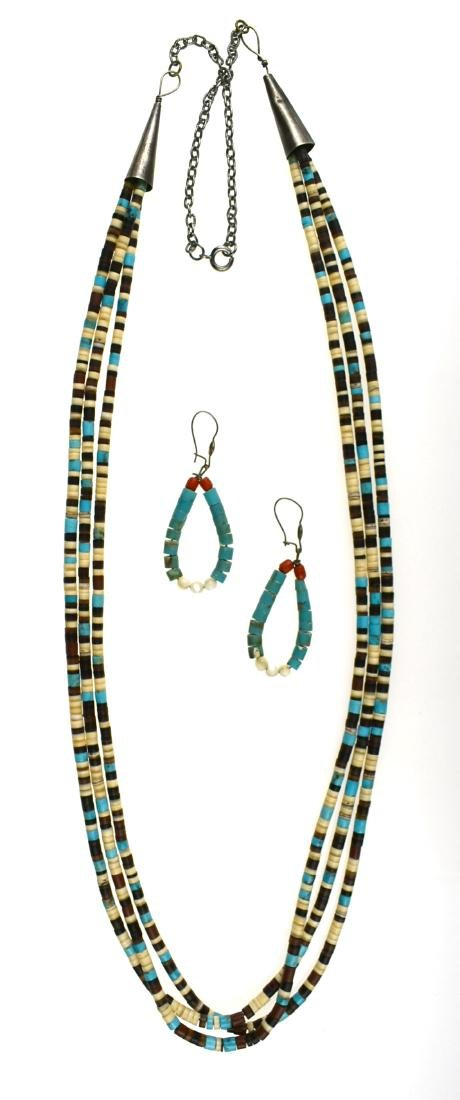 "30"" Southwestern Style Necklace with Earrings"
