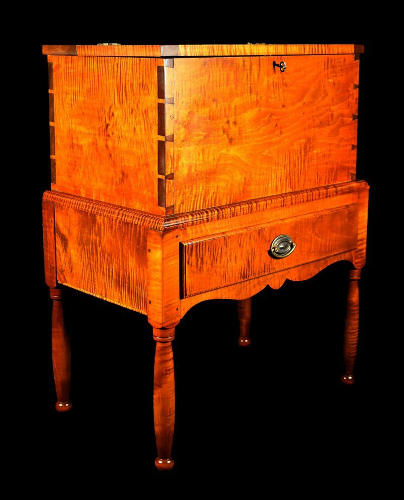 Tiger Maple Kentucky Style Sugar Chest