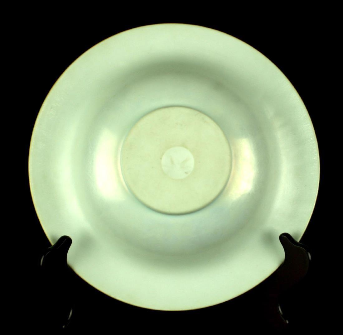 "Large 9 3/4"" Antique Steuben Aurene Art Glass Camellia - 3"