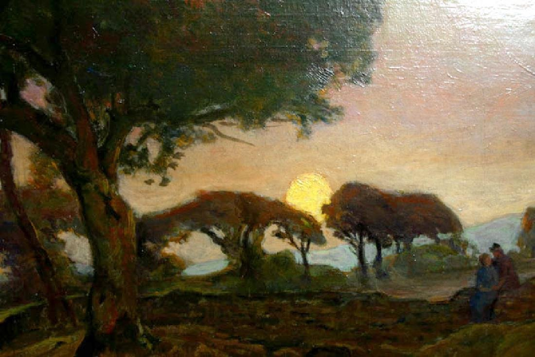 Serene Antique French Landscape By Adrian Louis Demont - 2