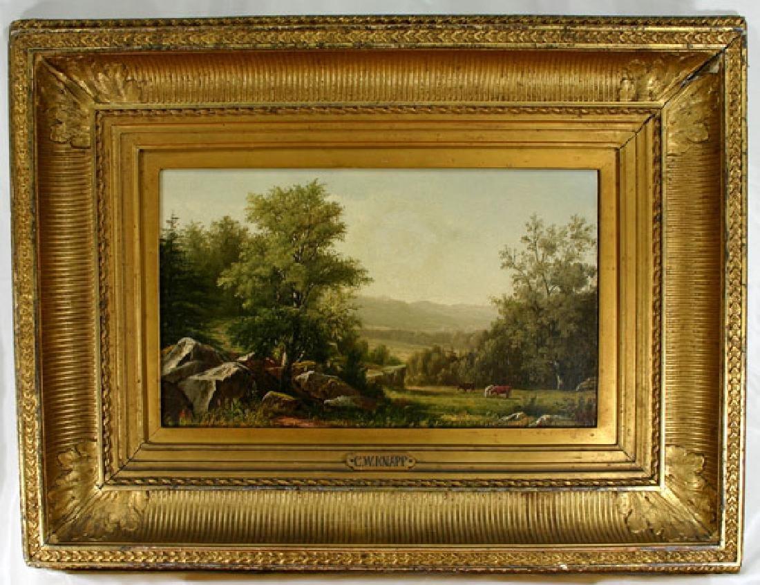 Fabulous American Artist Charles Knapp (1823-1900) Oil