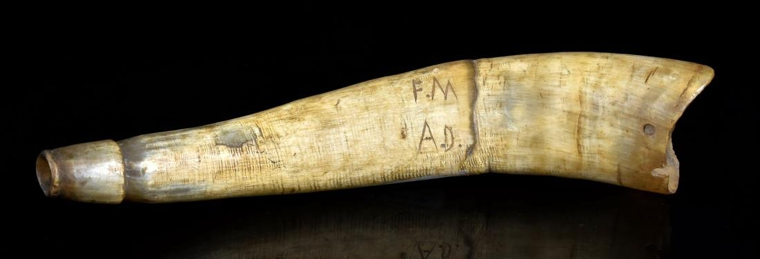 "11 1/4"" Engraved Powder Horn"