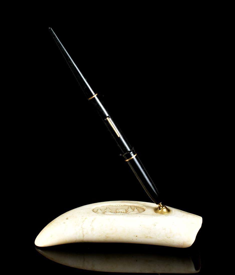 Scrimshaw Pen Stand