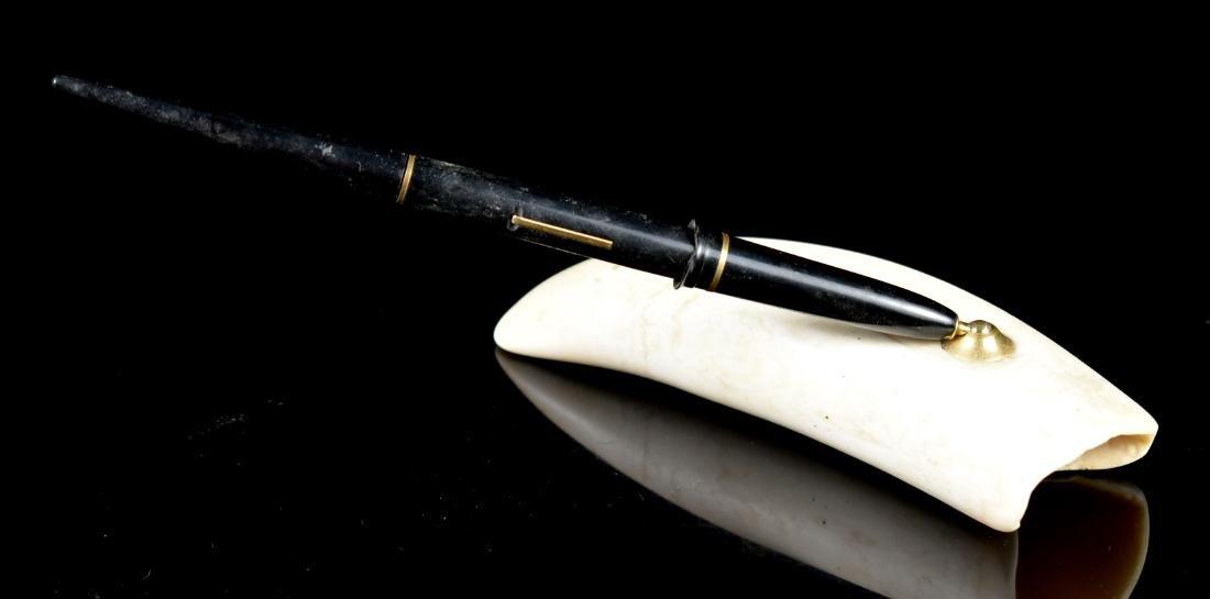 Scrimshaw Pen Stand - 2