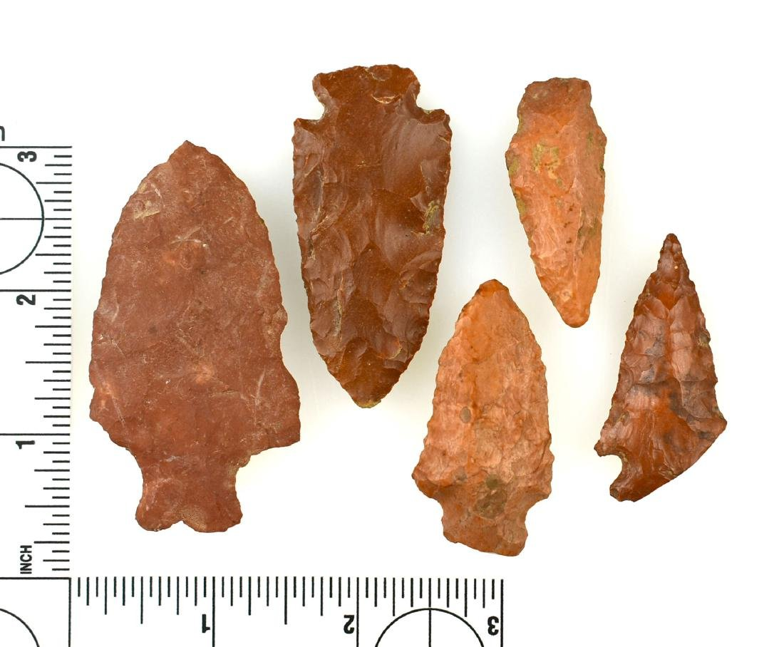 Lot of 5 Red Arrowheads