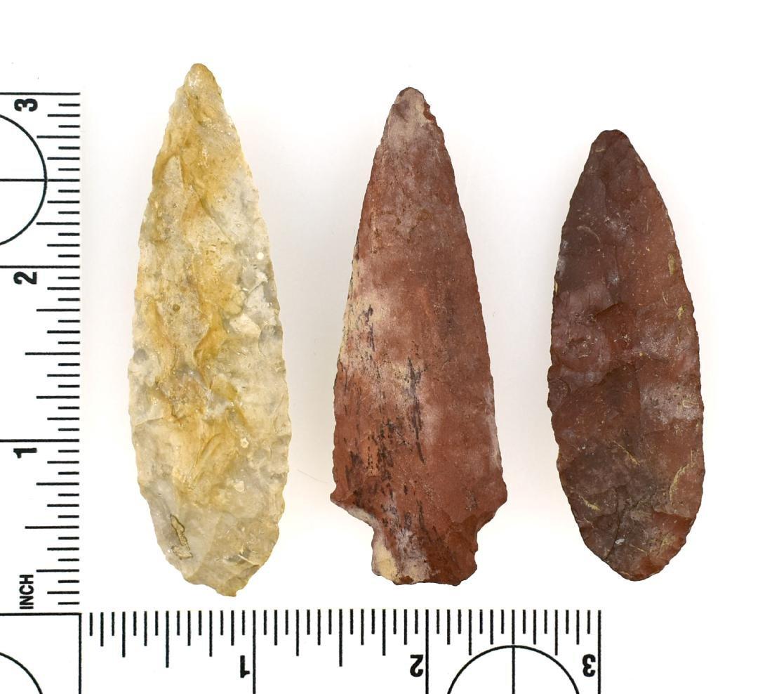 3 Fine Kentucky Arrowheads