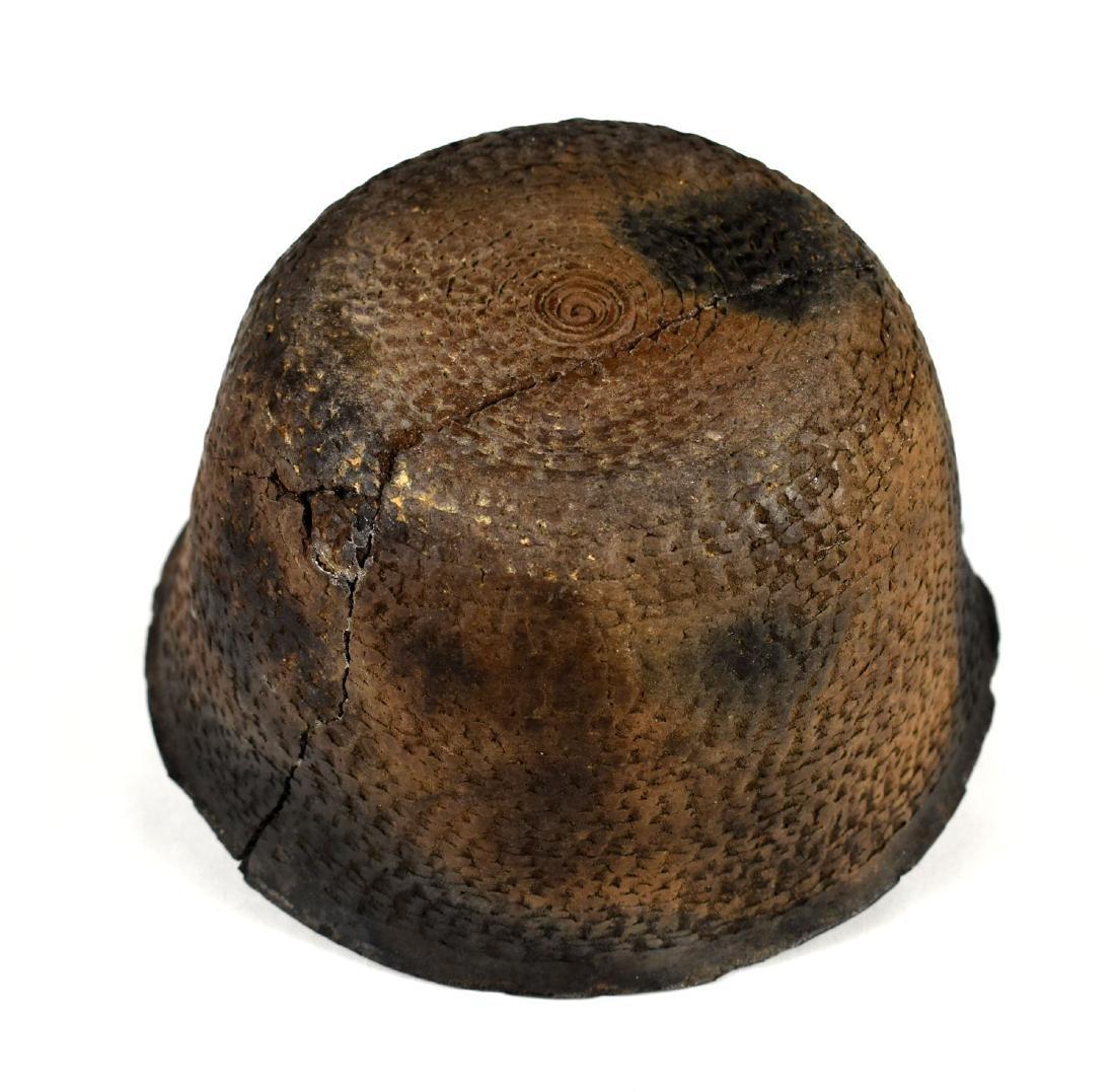 "7"" Anasazi Corrugated Pot - Restored - 3"