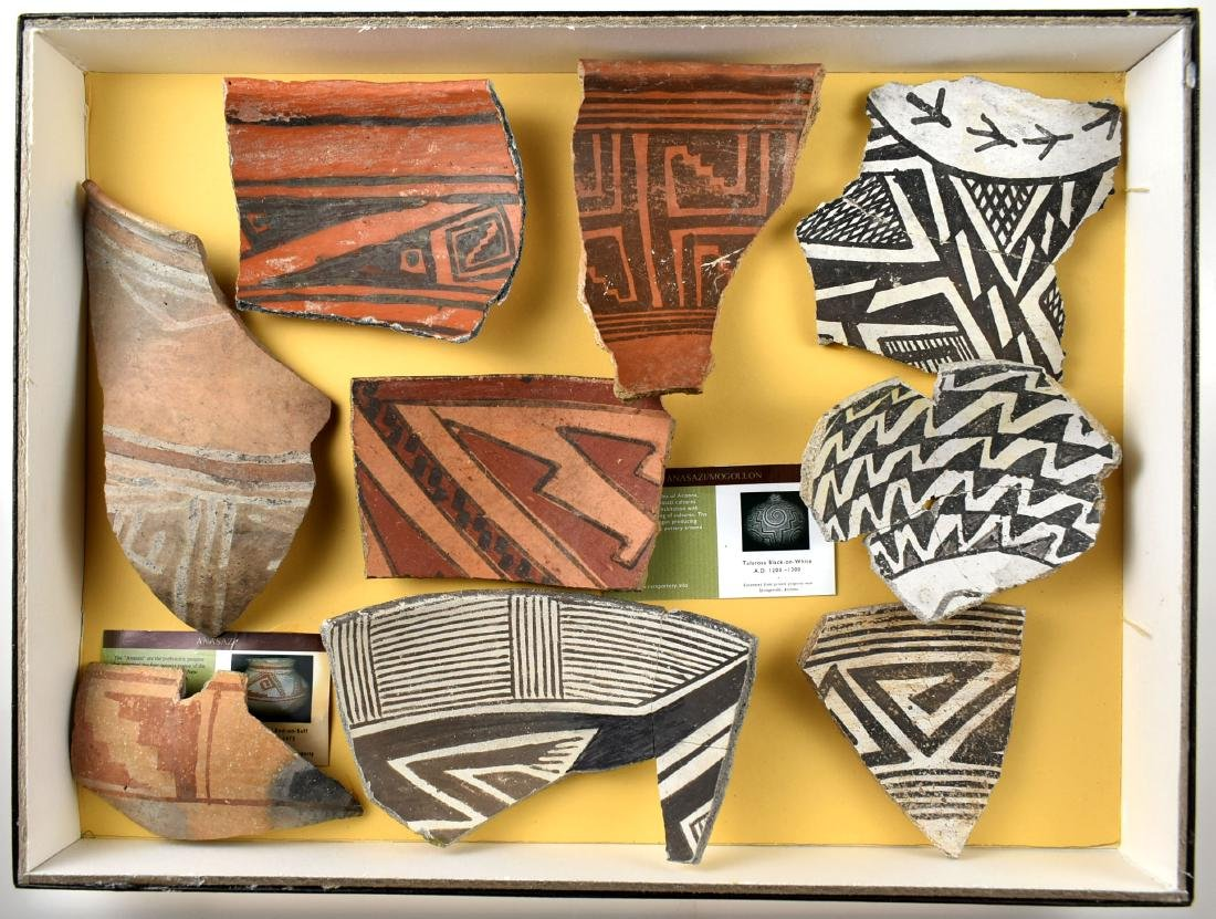Excellent display of Anasazi Pottery