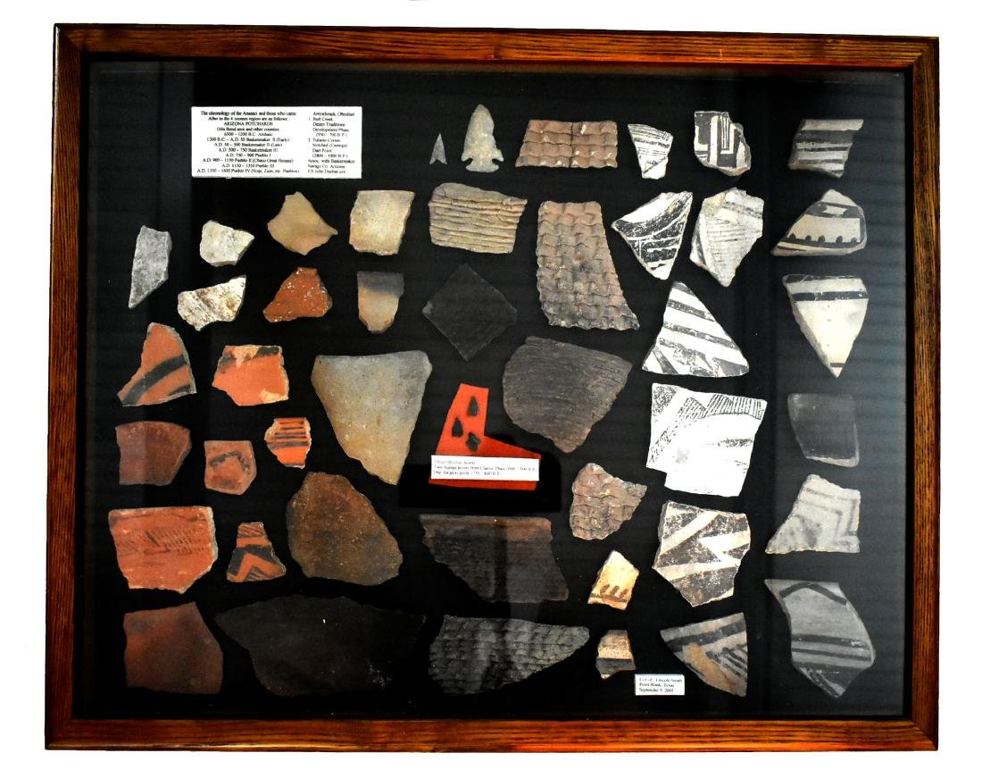 21x17 Display of Anasazi Pottery Shards