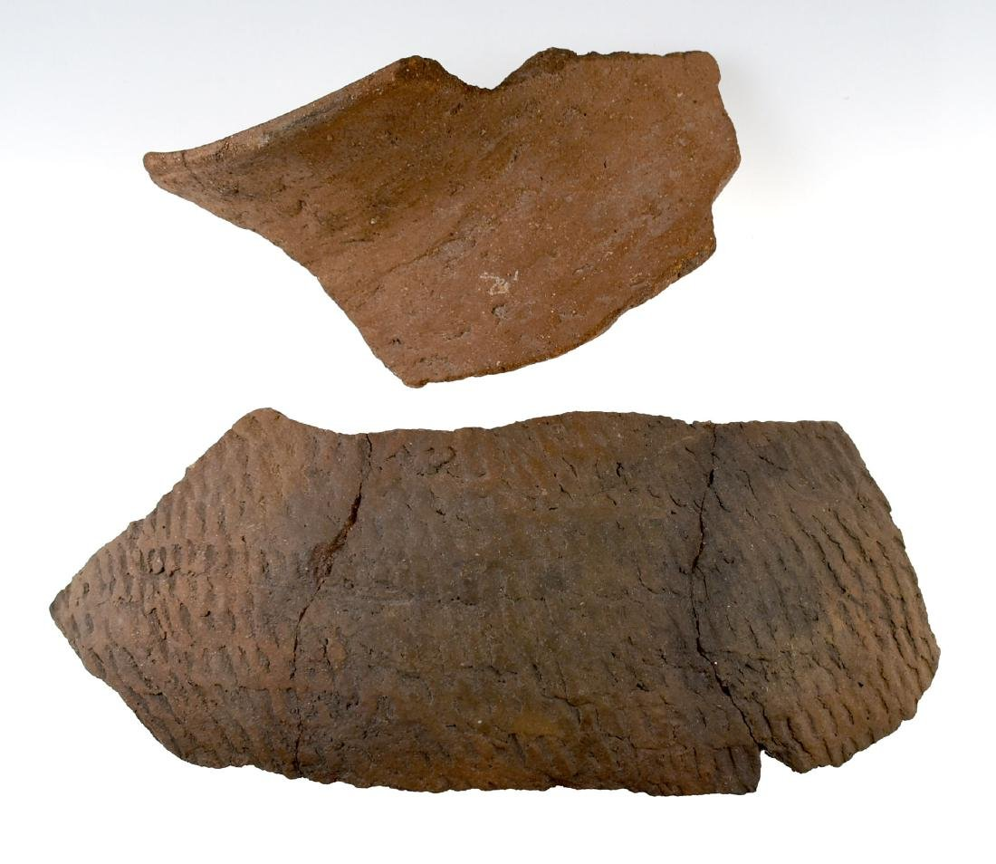 Pair of LARGE pottery Shards