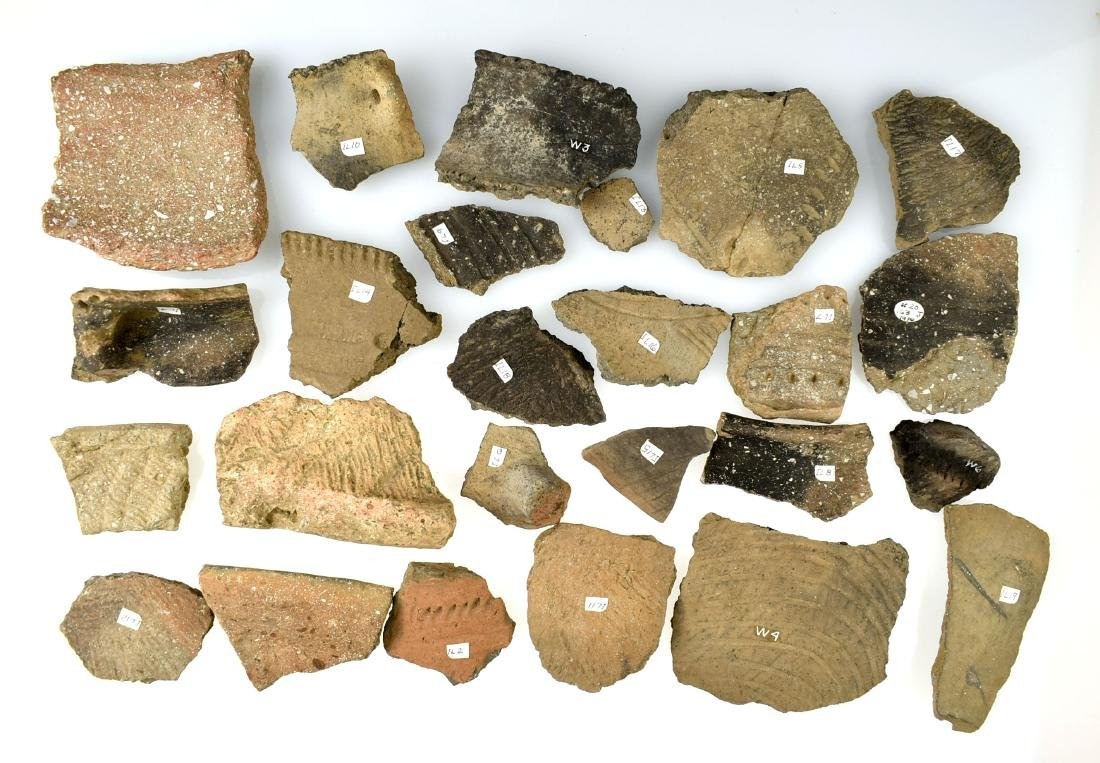 Assortment of Mississippian Pottery Shards