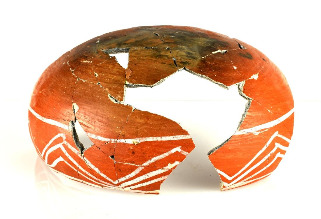 "9 1/2"" Anasazi Kwakina Polychrome Partial Bowl - 2"