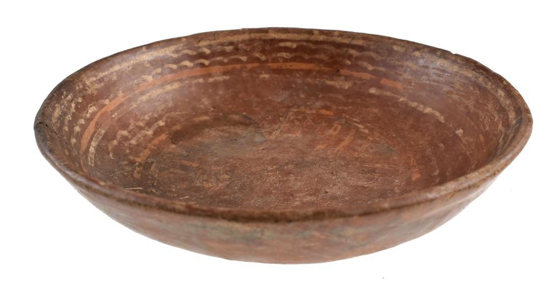 "6 3/8"" Decorated Mayan Dish - REPAIRED"