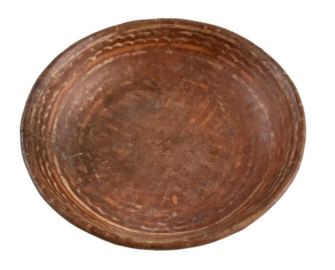 "6 3/8"" Decorated Mayan Dish - REPAIRED - 2"