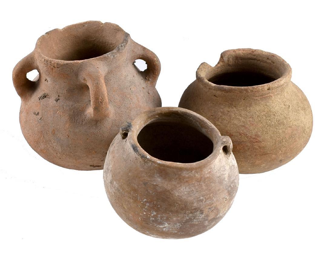 3 PreColumbian Pots - 2