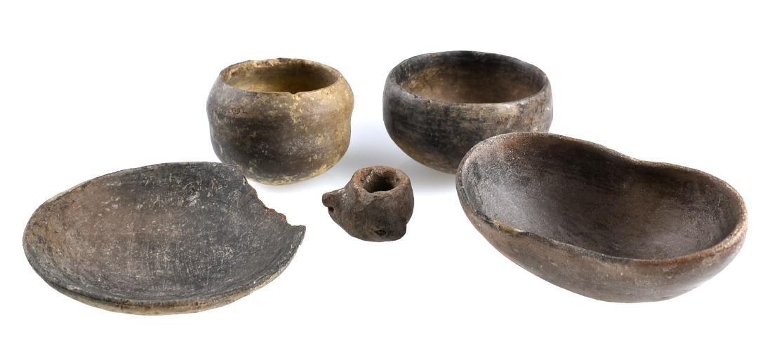 5 PreColumbian Pottery Pieces