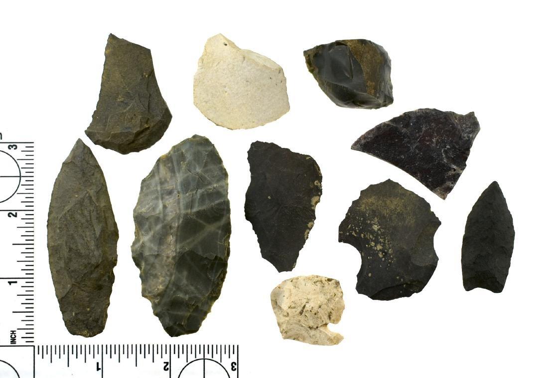 Assortment of Alaskan Flint Artifacts
