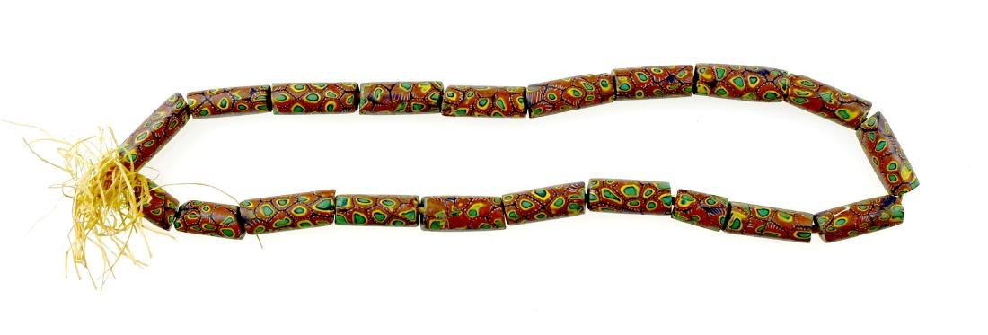 "23"" Millefiori Trade Bead Necklace"